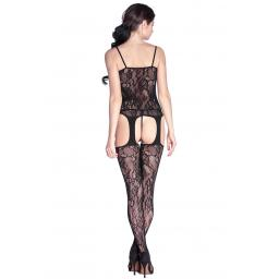 Lace Suspender Crotchless Body Stocking