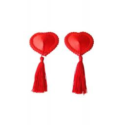 Red Heart Shaped Nipple Tassels