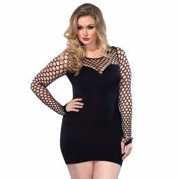 Leg Avenue Seamless Black Mini Dress