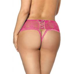 Sexy Lace Crotchless Knickers - Pink, Black or White, Sizes 8-24