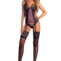 Mauve & Black Sexy Basque