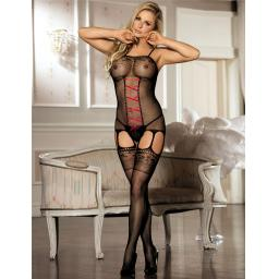 Crotchless Fishnet Bodystocking, Sizes 8-22