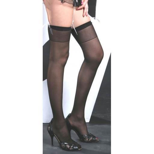 Regular Size Plain Black Stockings
