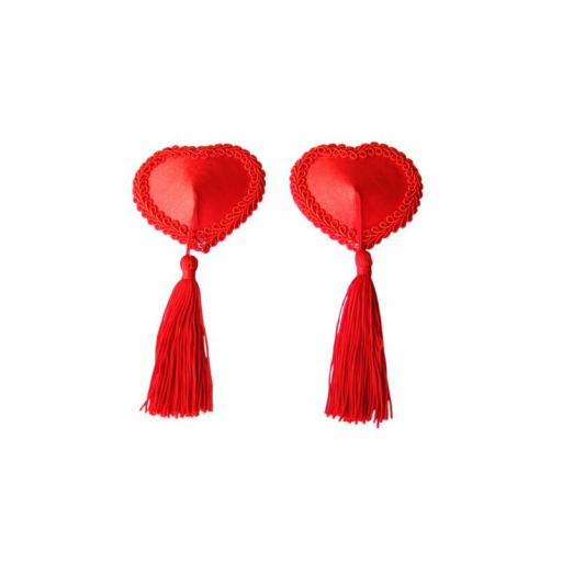Red Heart Shaped Nipple Tassels