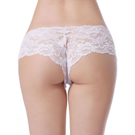 Sexy Black, White, Pink Or Beige Lace Knickers, Size 16-26