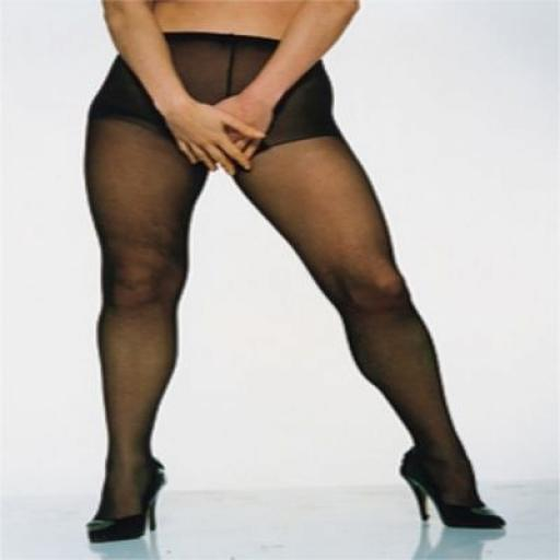 Open Crotch Black Tights, Sizes 10-22