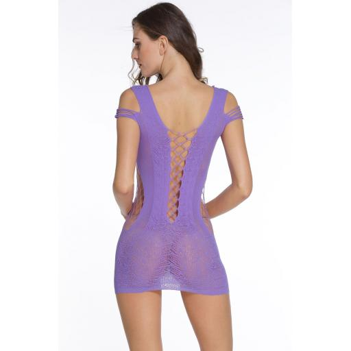 Purple Sexy See Through Chemise