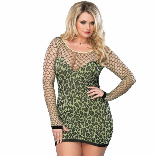 Leg Avenue Seamless Leopard Print Mini Dress