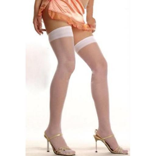 Plain White Stockings Size 10-22