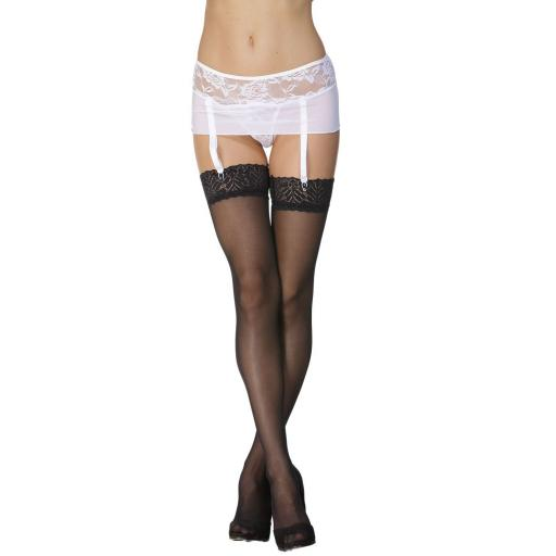 White Lace Suspender Belt, Plus Size Available