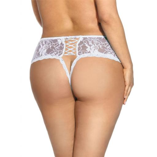 Sexy Lace Crotchless Knickers - Black, Pink or White