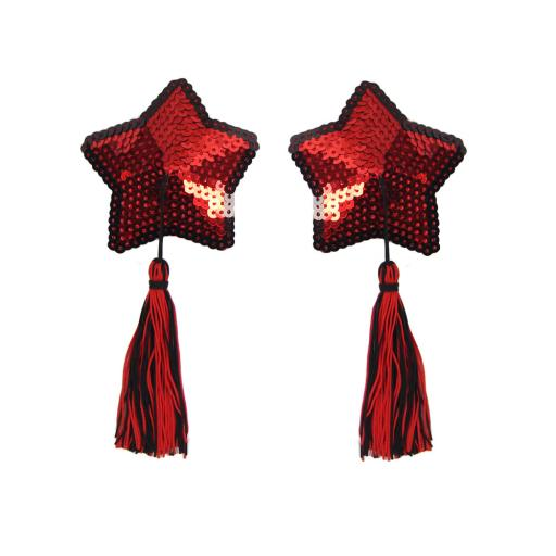 Sexy Red Sequin Star Nipple Covers