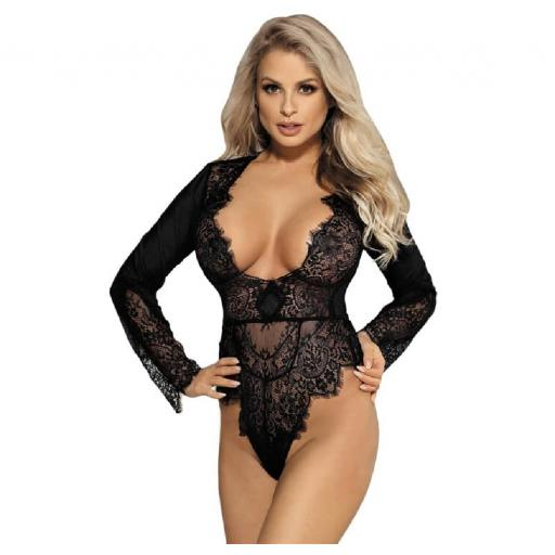 Sexy Black Floral Lace Babydoll
