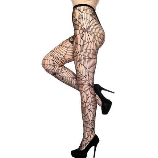Spiderweb Black Tights