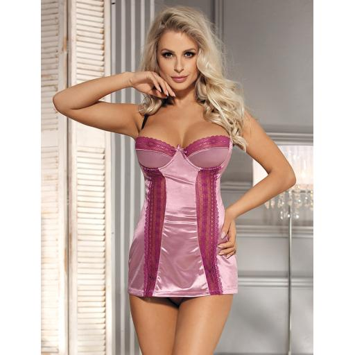 Pink Silky Chemise