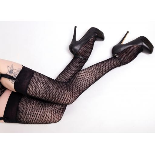 Black Thigh High Criss Cross Stockings