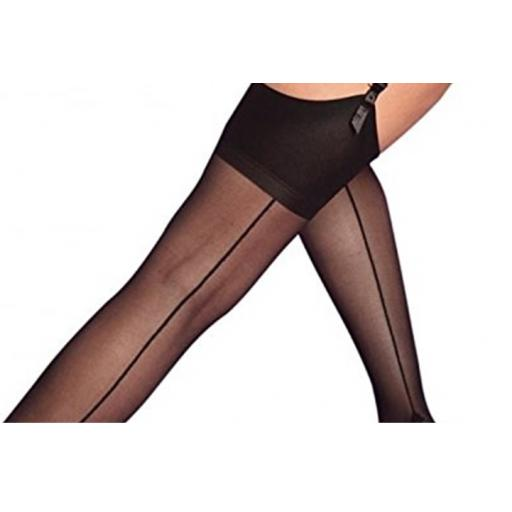 Sexy Black Seamed Stockings, Sizes 8-22