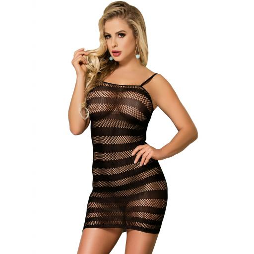 Sexy Sheer Striped Chemise
