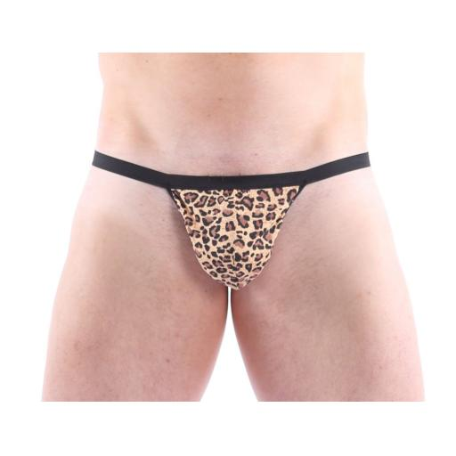 Sexy Mens Leopard Novelty Thong